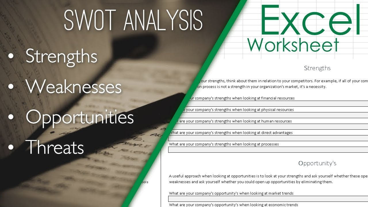 SWOT Analysis Format Template Excel Sheet | Spreadsheet Download ...