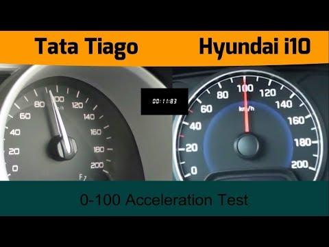Tata Tiago Revotron vs Hyundai Grand i10 VTVT 0 100 Speed test