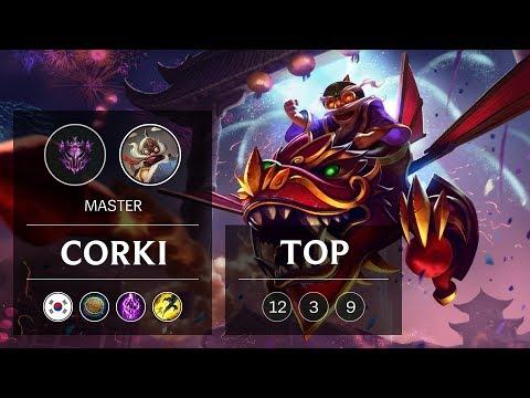 Corki Top vs Urgot - KR Master Patch 9.3
