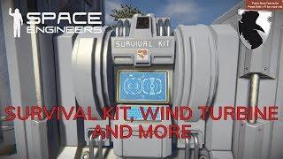 SPACE ENGINEERS Survival Playtest :: SURVIVAL KIT, WINDTURBINE AND MORE :: PART 1