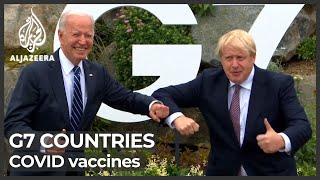 What are G7 countries promising on COVID vaccines?