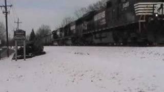 Norfolk Southern Coal Train Ns502 In Oaklyn, Nj