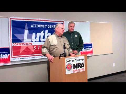 NRA Endorses Alabama Attorney General Luther Strange