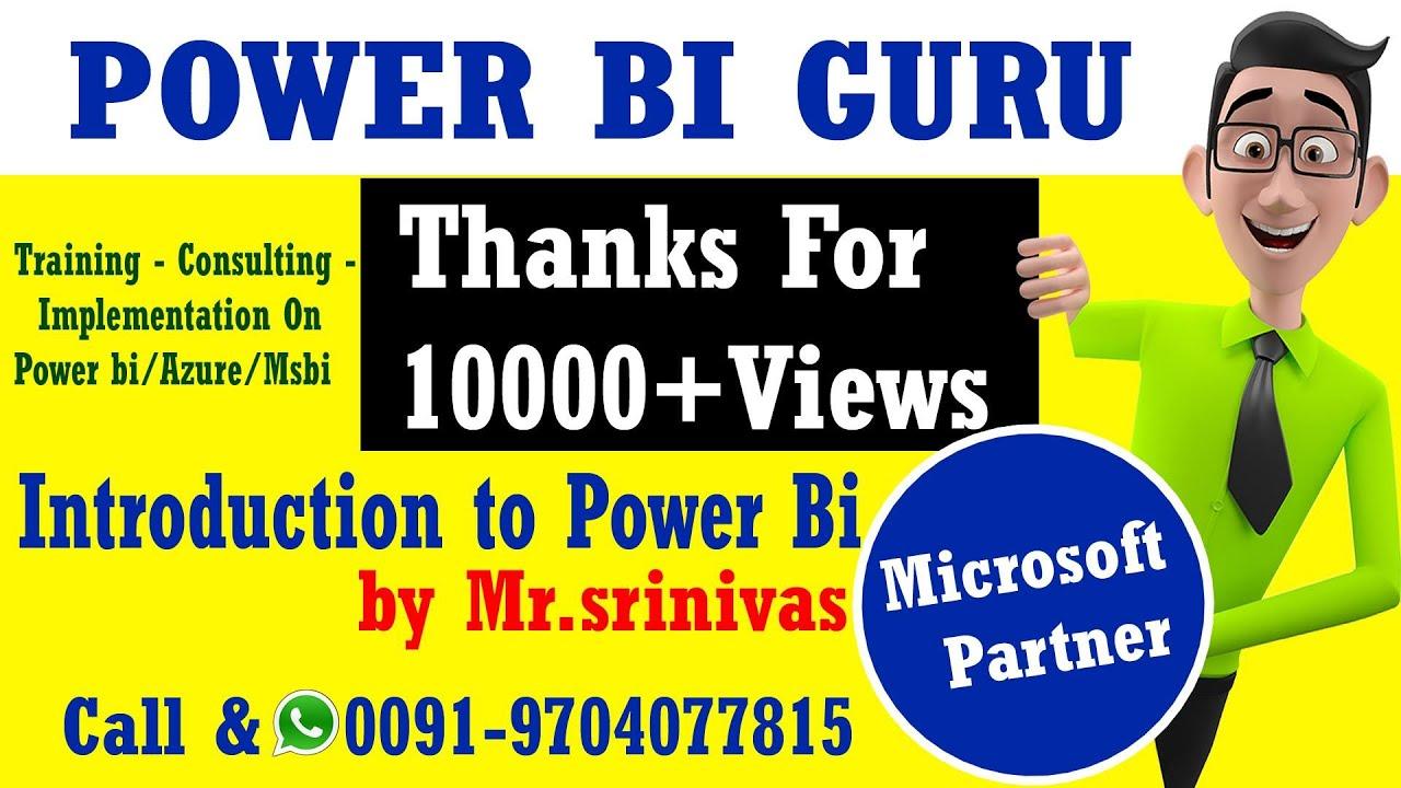 Power BI Online Training in Hyderabad   PowerBi GURU