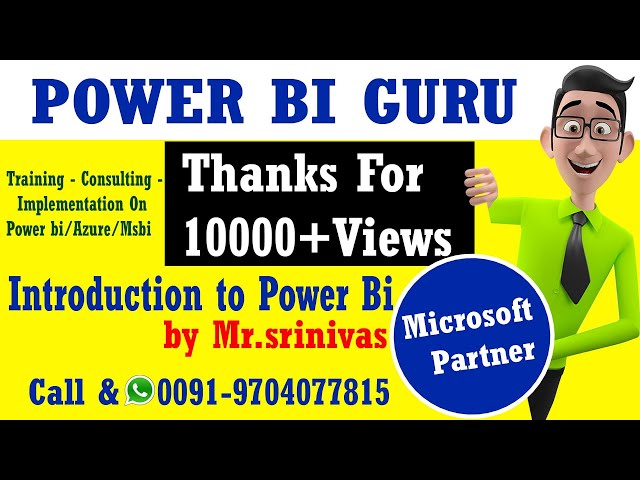 Introduction to PowerBI -Session 1|Power BI Training in India,Dubai,US,canada,UK,australia,UAE,NZ