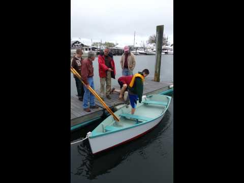 Launch of the Cape Cod Maritime Museum Bevin skiff