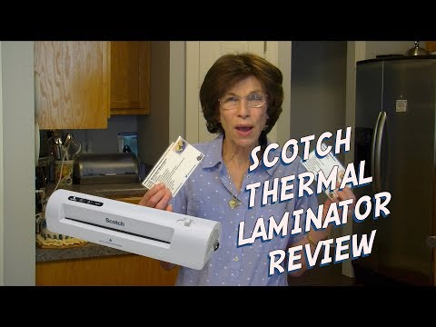 Review of Scotch Thermal Laminator - Recipe Cards