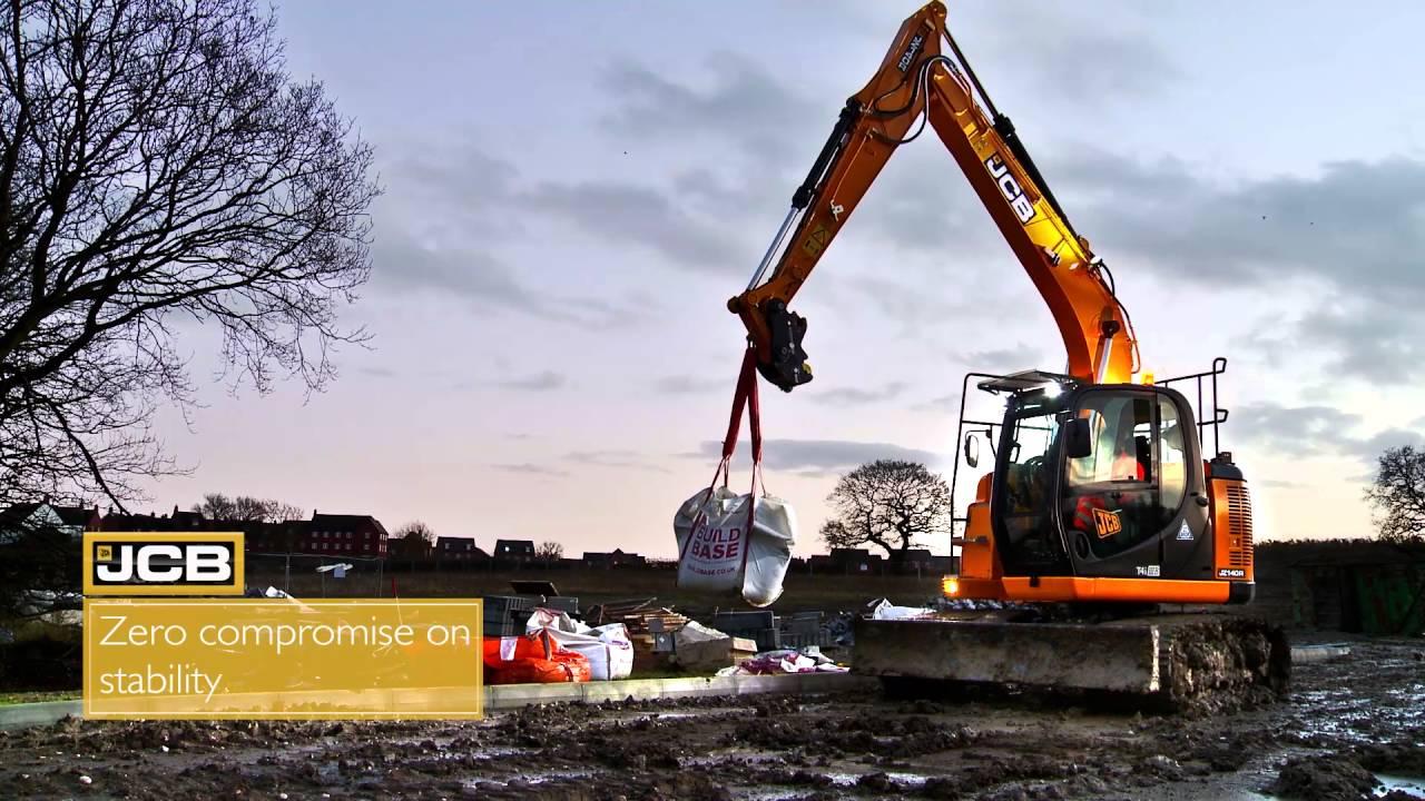 The new JCB JZ140LC zero tail swing excavator
