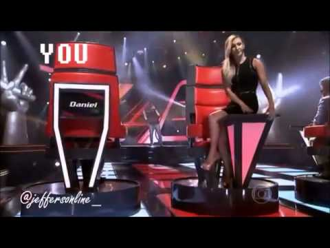 Claudia Leitte imitando as juradas gringas do The Voice Vídeos De Viagens