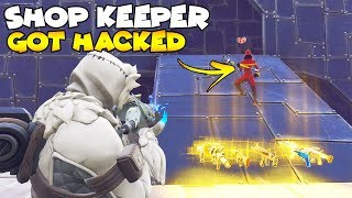 He Hacked Shop Keeper HELP! 😱 (Scammer Gets Scammed) Fortnite Save The World