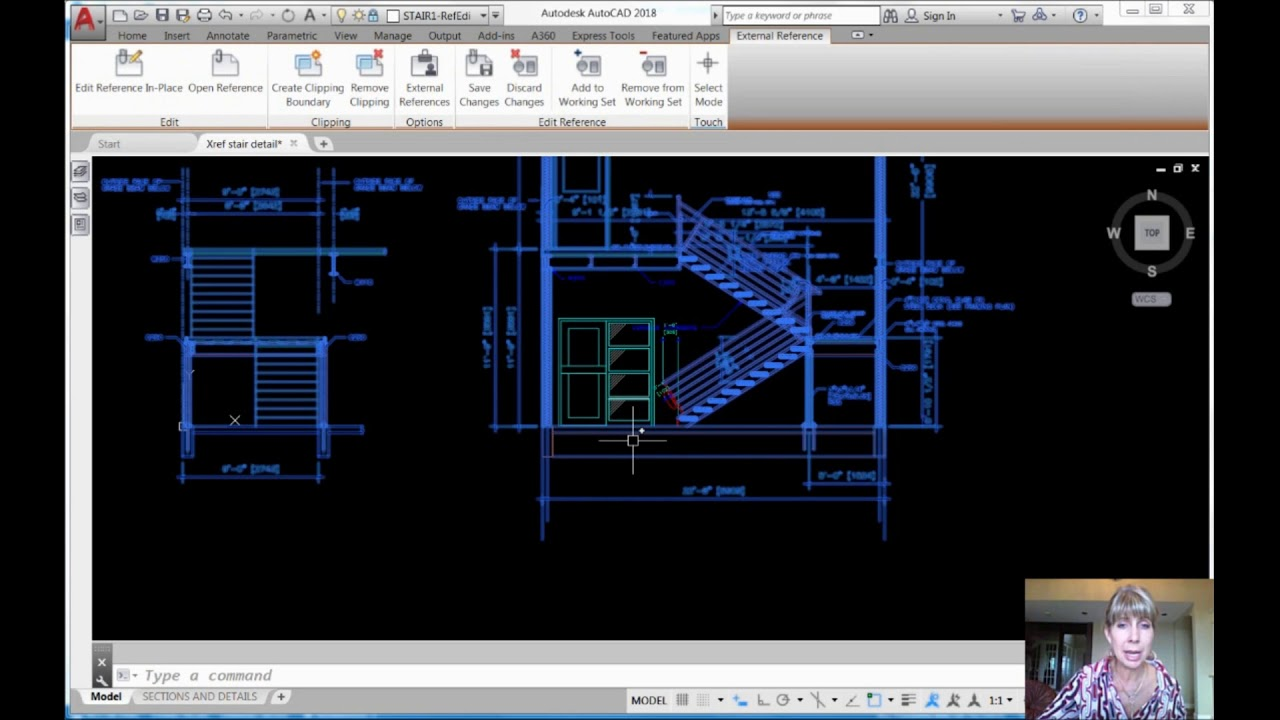 how to work xref in autocad