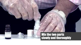 how to repair my bath using the anglo acrylic bath repair kit with putty