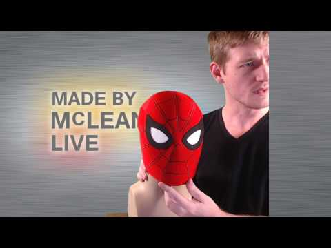 Made by McLean Live- Photoshop Continued- Cleaning up the Marvel Spidey Mask Part 2- 04/11/2017