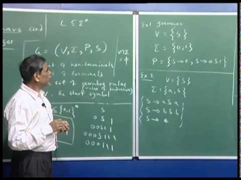 Mod-01 Lec-20 Introduction to context free languages (cfls)