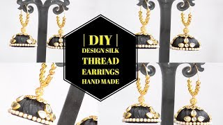 | DIY | Silk Thread earrings Hand made