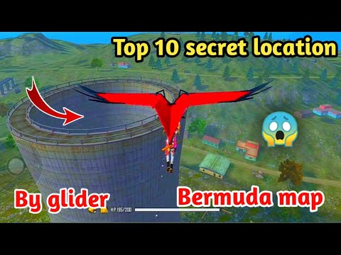 Top 10 Secret Location By Glider In Rank Mode - Garena Free Fire