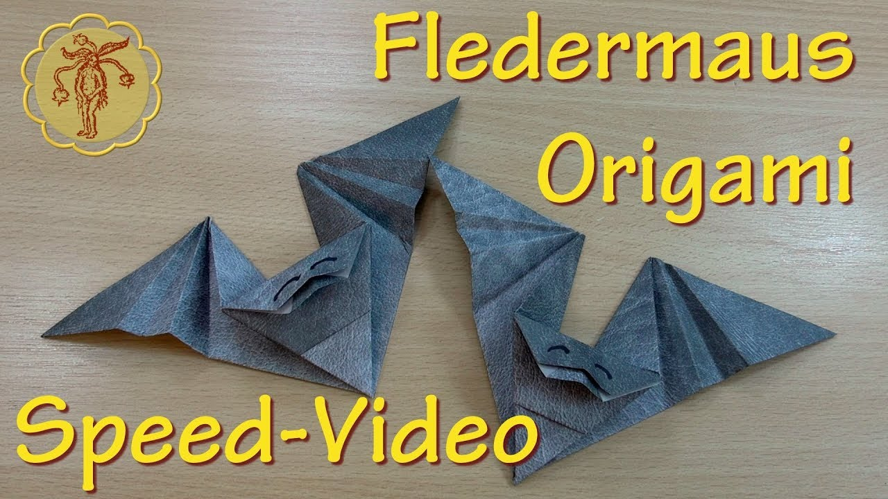 speed video origami fledermaus selber machen youtube. Black Bedroom Furniture Sets. Home Design Ideas