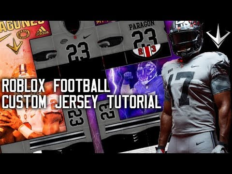 Roblox Paragon23 My Custom Jersey Tutorial Youtube