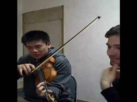 Sight-Reading new music with Eric the violinist