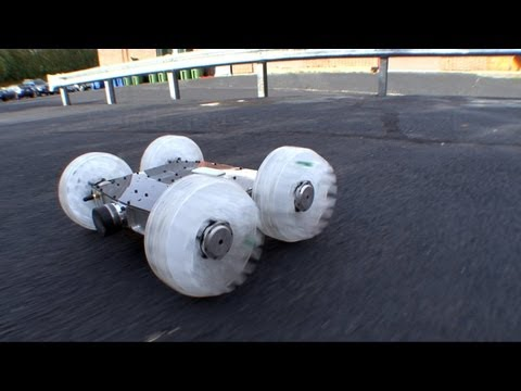 Download Youtube: Sand Flea Jumping Robot