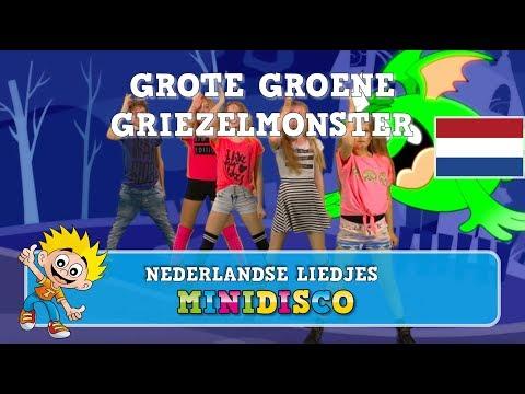 Halloween | Grote Groene Griezelmonster | Kinderliedjes | Griezelliedjes | DANS | Minidisco