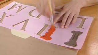 Estarcir sobre tela y pintar con plantillas - Decogarden