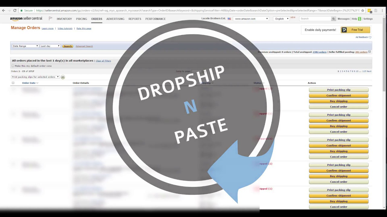 Dropship N Paste - Auto Copy & Paste Shipping Address 80+ Suppliers