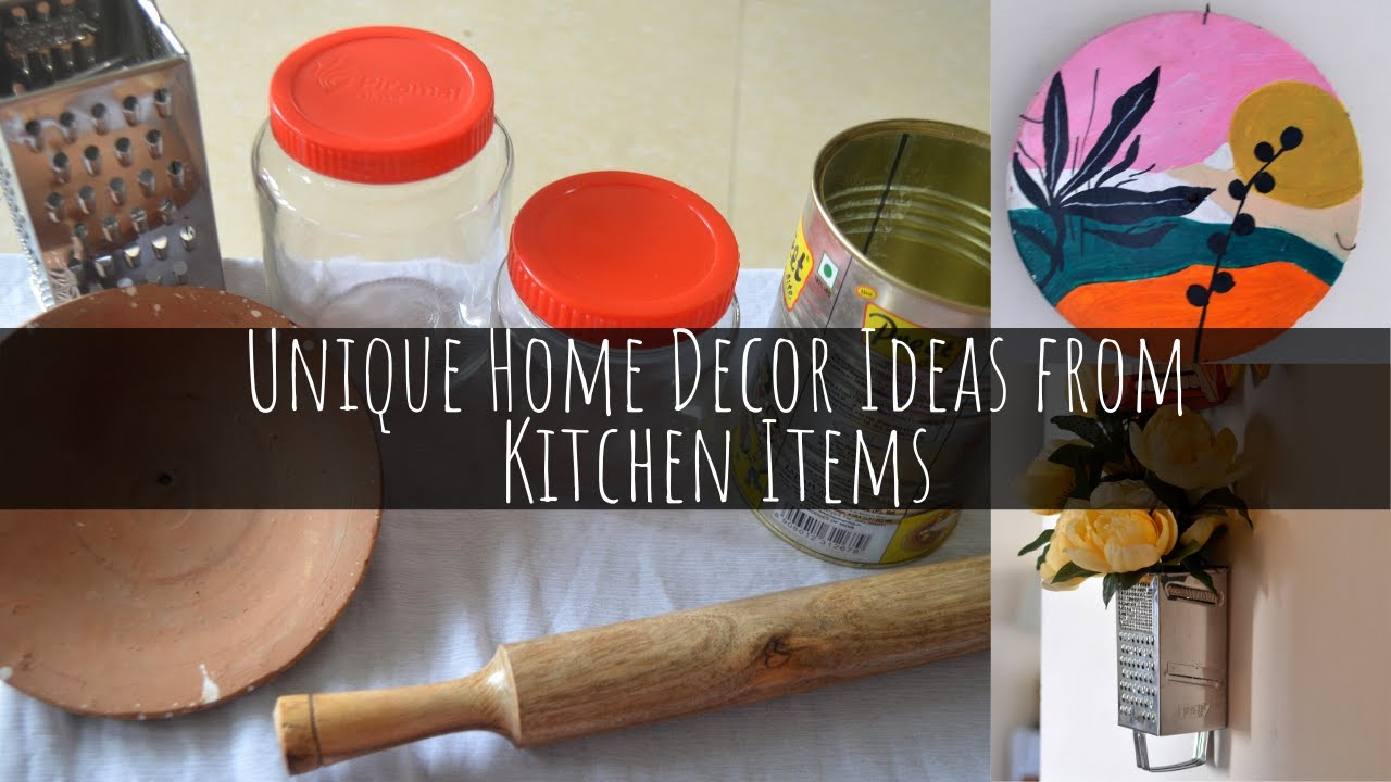 5 Unique Home Decor Ideas From Kitchen Items Diy Home Decor Scarlet Strokes Youtube