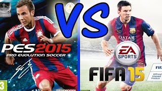 FIFA 15 vs PES 2015 / Gameplay & Graphics Review / Differences Analysis + In-Game Examples