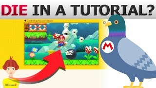 What if you make Mario DIE in a Tutorial? | Super Mario Maker 2