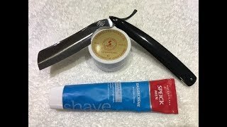 Rigarazor Straight Razor and Speick Shaving Cream