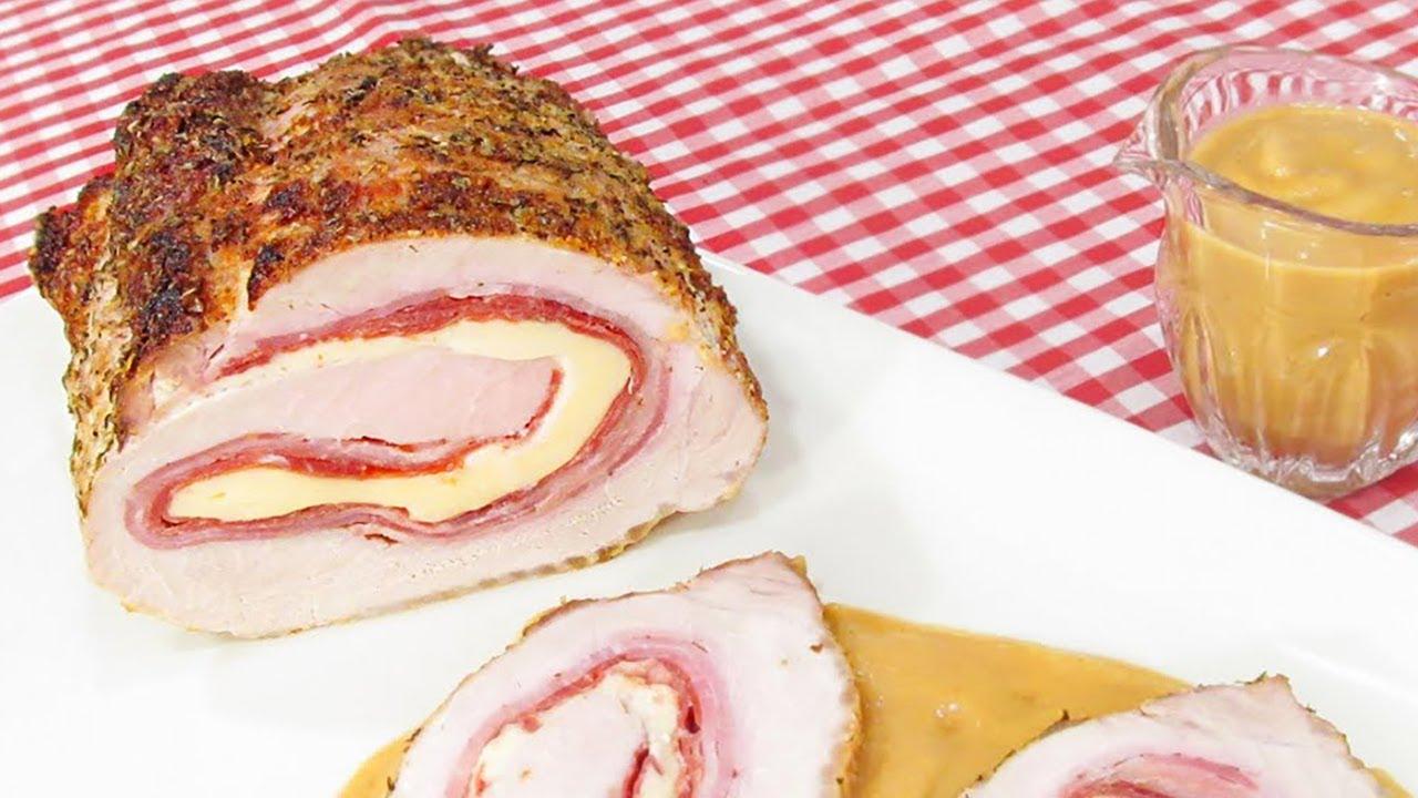 Lomo de cerdo relleno al horno youtube - Solomillo cerdo al horno ...