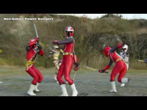 Power Rangers Ninja Steel - 3 Red Rangers...