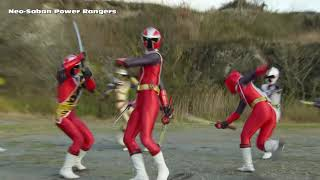 power rangers ninja steel 3 red rangers final morph and battle   episode 20 galvanax attacks