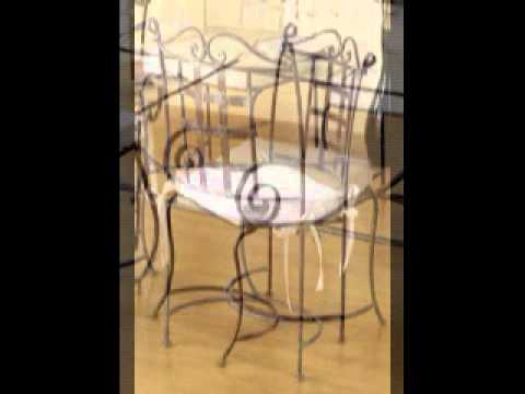 chaise table meuble de salle a manger en fer forg youtube. Black Bedroom Furniture Sets. Home Design Ideas