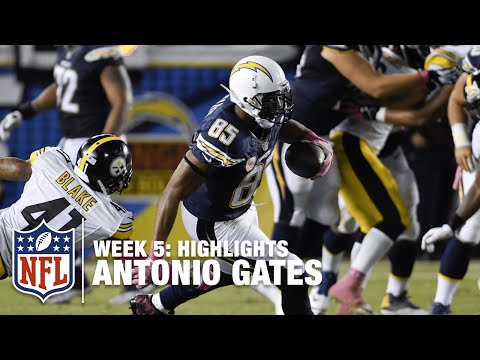 Antonio Gates Highlights (Week 5) | Steelers vs. Chargers | NFL