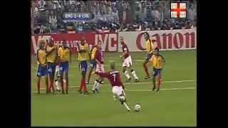 David Beckham Free Kick England vs Colombia 26 06 1998