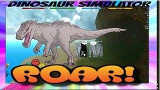 Roblox - Dino Sim Wars - Ground glitchers and fat dinos