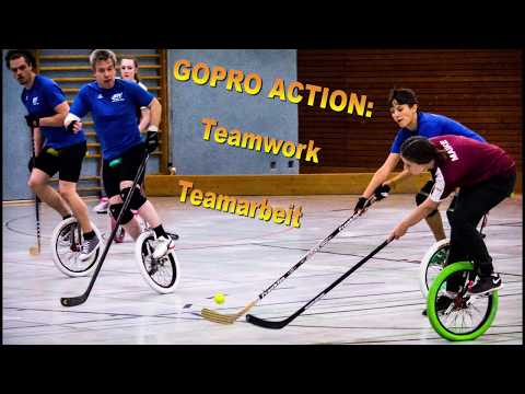 GOPRO ACTION: Einradhockey - Teamarbeit