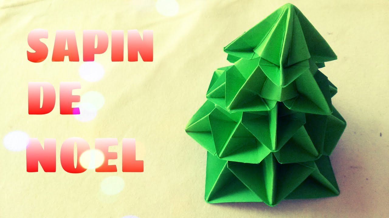 D coration de no l comment faire un sapin de no l en origami youtube - Decoration de noel a faire ...