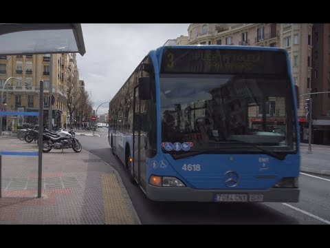 Spain, Madrid, Ride With Bus 3 From Plaza Chamberi To San Amaro