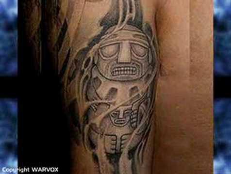 www.warvox.com - Aztec, Mayan, Incas, Pre Hispanic Tattoo Designs by Felix