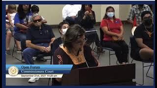Hidalgo County - Irma Menchaca delivering Omega Brief 9 21 2021