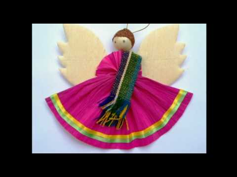 Mexican cornhusk angel ornaments zapopan jalisco for Mexican christmas ornaments crafts