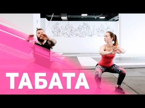 Табата: эффективная интервальная тренировка — 4 минуты  [Фитнес Подруга]