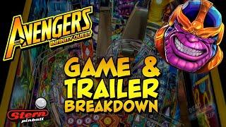 The Avengers Infinity Quest Pinball Trailer Breakdown.