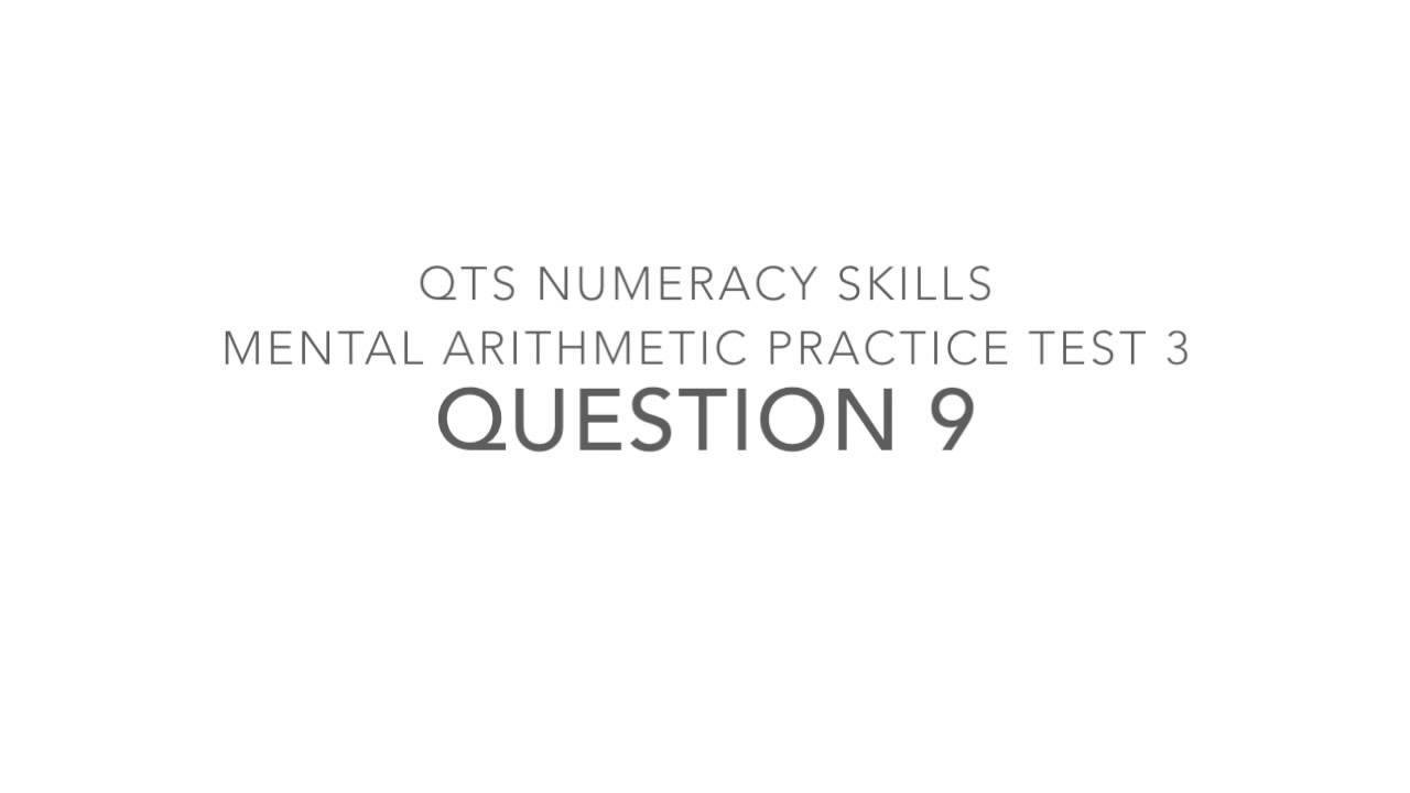 QTS Numeracy Skills Mental Arithmetic Practice Test 3 - YouTube