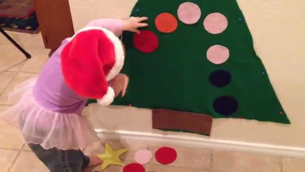 how to make a felt christmas tree for kids