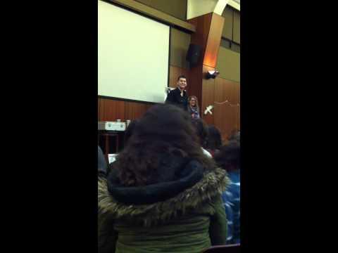 Joel Meyers at Sacred Heart University