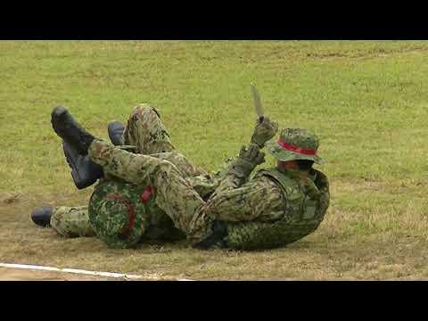 金沢駐屯地創立67周年記念行事 格闘技訓練展示